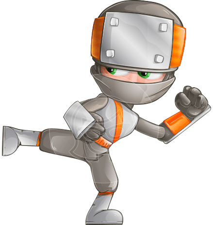 Japanese Ninja Cartoon Vector Character AKA Takeshi