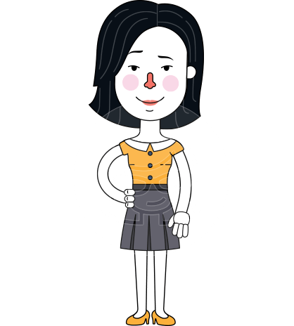 Minimalist Businesswoman Vector Character Design AKA Bethany