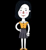 Minimalist Businesswoman Vector Character Design AKA Bethany