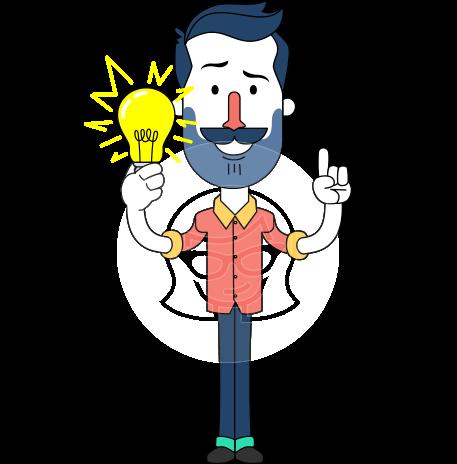 Minimalistic Man Vector Character Design AKA Justin
