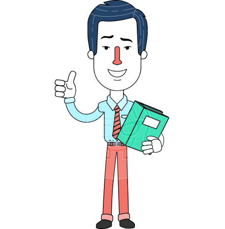 Flat Linear Employee Vector Character Design AKA Steve the Office Guy