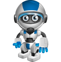 Funny Robot Cartoon Vector Character AKA Robb-E