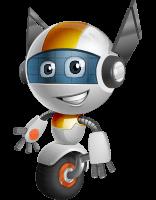 Cute Little Robot Cartoon Vector Character AKA OWAF