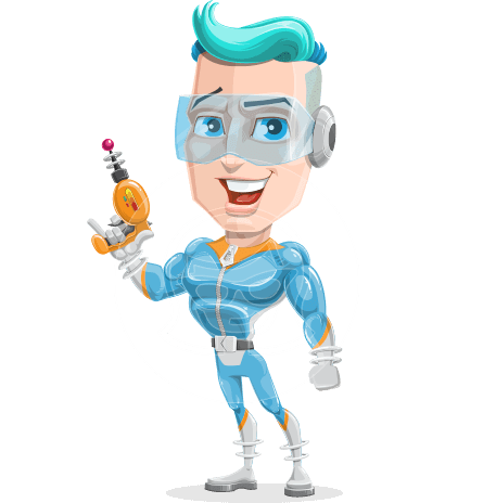 Space Man Astronaut Cartoon Vector Character AKA Lexo