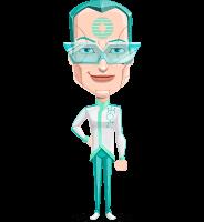 Humanoid Robot Vector Cartoon Character AKA Elton