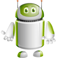Home Assistant Robot Cartoon Vector Character AKA DAVE
