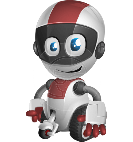 Cute Robot Kid Cartoon Vector Character AKA DigitaLittle Jeff