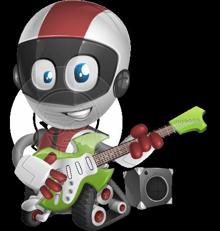 Cute Robot Kid Cartoon Vector Character AKA DigitaLittle Jeff