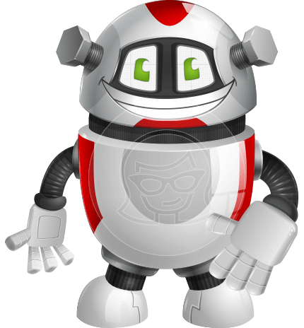 Smart Robot Cartoon Vector Character AKA Chubbydroid 3000