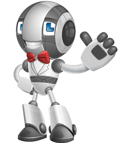 Housekeeping Robot Cartoon Vector Character AKA Glossy