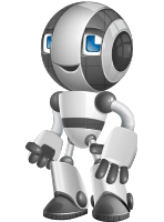 Housekeeping Robot Cartoon Vector Character AKA Glossy