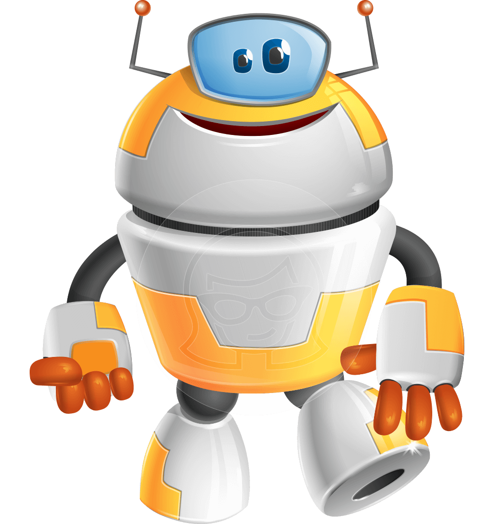 Cool Robot from Future Cartoon Vector Character AKA Spud