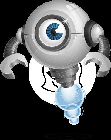 Futuristic Robot Cartoon Vector Character AKA GAR-Y