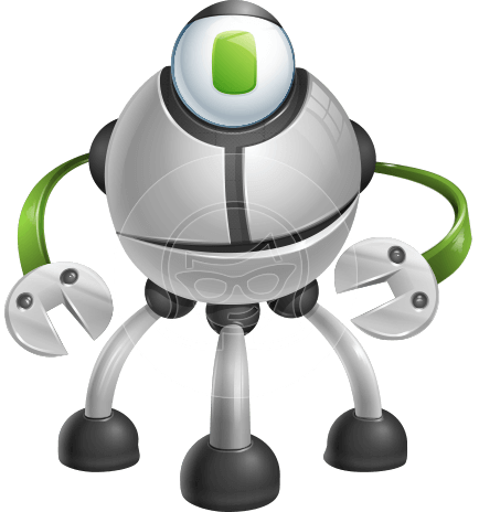 Smart Technology Machine Cartoon Vector Character AKA Multiped Larry