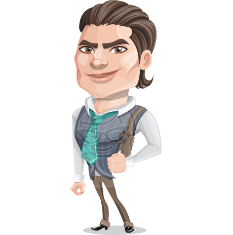 Big Mafia Boss Cartoon Vector Character AKA Tal Knows-How