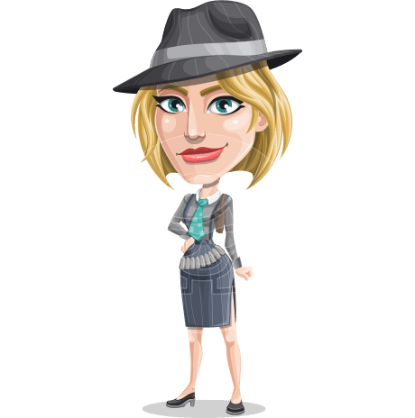 Blonde Bank Robber Girl Cartoon Vector Character AKA Maria