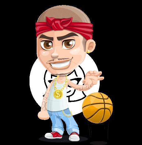 Criminal Man Cartoon Vector Character AKA Chino Troublelino