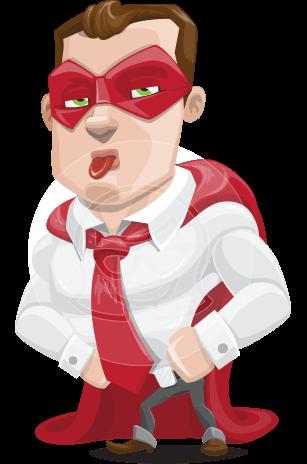 Business Hero Cartoon Vector Character AKA Corporate Steel