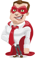 Business Hero Cartoon Vector Character AKA Corporate Steel