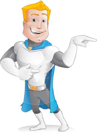Muscle Superhero Cartoon Vector Character AKA Mister Tornado