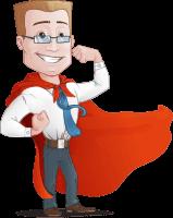 Businessman with Superhero Cape Cartoon Vector Character
