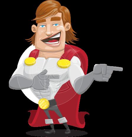 Handsome Superhero Cartoon Vector Character AKA Captain Millennia
