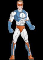 Villain Superhero Cartoon Vector Character AKA Mr. Musclehoff