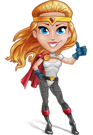 Female Superhero Cartoon Vector Character AKA Starshine Megagirl