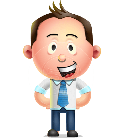 Vector 3D Businessman Character Design