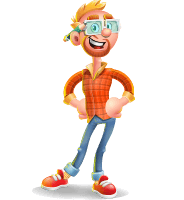 Casual Man with Glasses 3D Vector Cartoon Character AKA Sean Ginger
