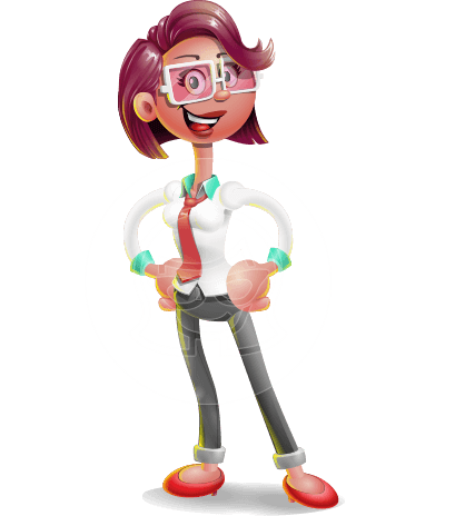 Business Girl 3D Vector Cartoon Character AKA Stephanie