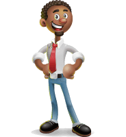 African-American Businessman 3D Vector Cartoon Character AKA Adam