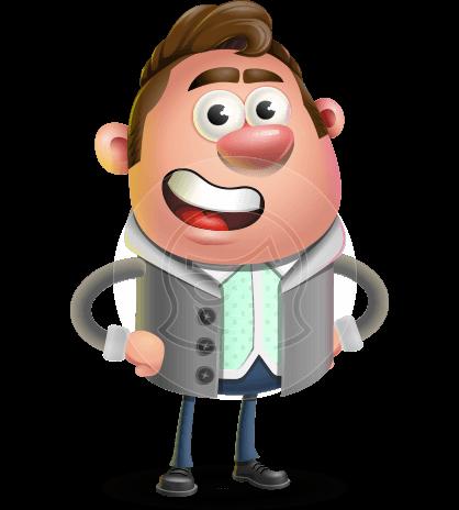 Fashionable Man Cartoon 3D Vector Character AKA Lincoln