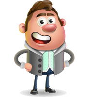Fashionable Man Cartoon 3D Vector Character AKA Lincoln