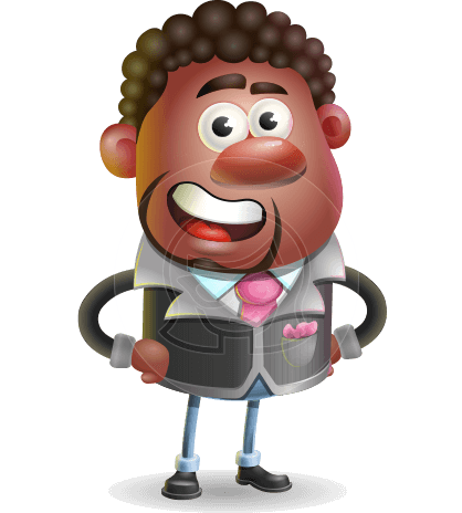 Vector 3D African American Businessman Cartoon Character AKA Brayden