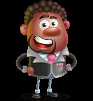 Vector 3D African American Businessman Cartoon Character AKA Brayden