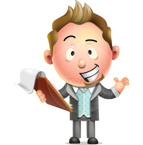 Stylish Man Cartoon 3D Vector Character Design AKA Andrew Richman