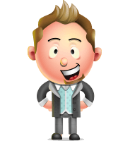 Stylish Man Cartoon 3D Vector Character Design AKA Andrew Richman