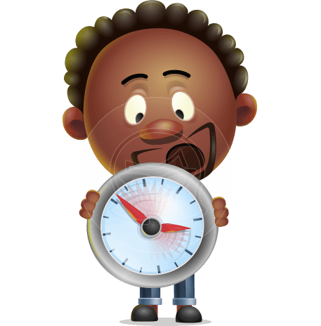 Cute African American Man Cartoon 3D Vector Character AKA Jeffrey Strategic