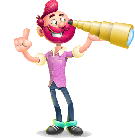 Hipster with Beard Cartoon Vector 3D Character AKA Bruno Smashing