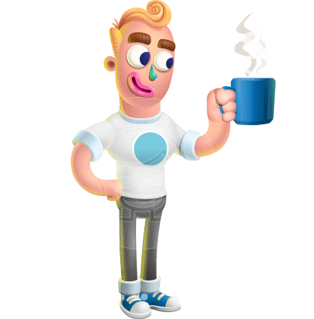 Man With T-Shirt Cartoon Vector 3D Character AKA Wesley Blond