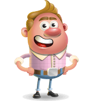 Vector Clay Business Man Cartoon Character Design AKA Theodore Quirk