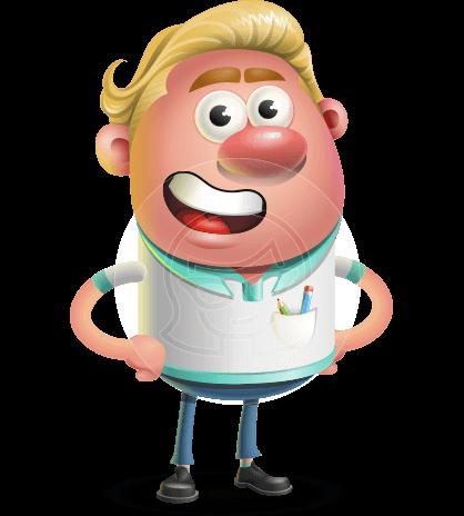 Blonde Hair Man Cartoon Vector 3D Character AKA Landon Blond