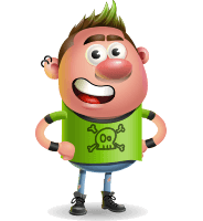 Punk Boy Cartoon Vector 3D Character AKA Carter Punk