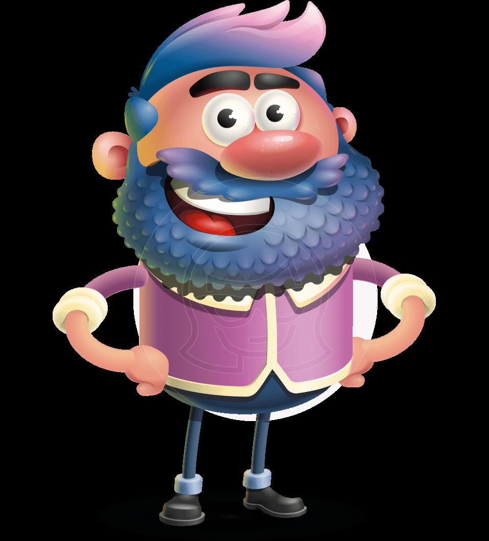 Man with Big Beard Cartoon 3D Vector Character AKA Ernest O'Beard