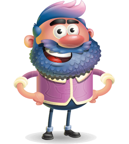 Man with Big Beard Cartoon 3D Vector Character AKA Ernest O'Beard