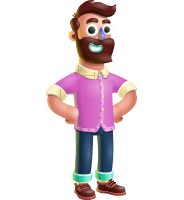 Plasticine Man Cartoon Vector Character AKA Gerald MacBeard