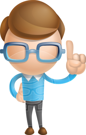 Simple Businessman Vector 3D Cartoon Character AKA Nerdy