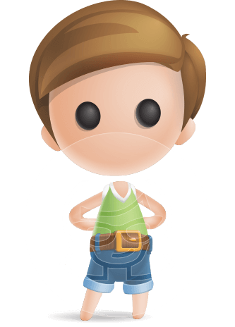 Simple Cute Boy Vector 3D Cartoon Character AKA Little Melvin
