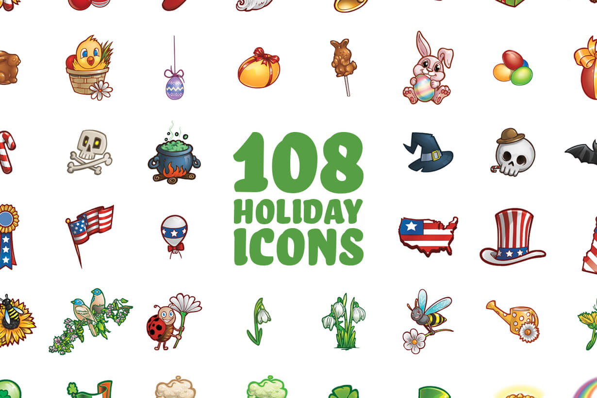 Free Holiday Icons Set